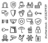 security icons set. set of 25... | Shutterstock .eps vector #651829939