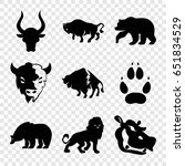 wild icons set. set of 9 wild... | Shutterstock .eps vector #651834529