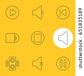vector illustration of 9 music... | Shutterstock .eps vector #651835189