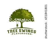 tree swing playground | Shutterstock .eps vector #651841801