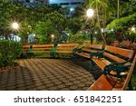night garden | Shutterstock . vector #651842251