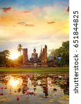 wat mahathat temple in the... | Shutterstock . vector #651844825