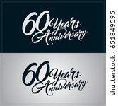 60 years anniversary...   Shutterstock .eps vector #651849595