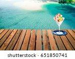 delicious ice cream on the... | Shutterstock . vector #651850741