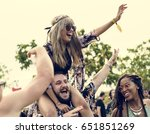 people enjoying live music... | Shutterstock . vector #651851269