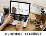 illustration of coffee cup...   Shutterstock . vector #651858895