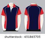 polo shirt design | Shutterstock .eps vector #651865705