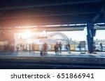morning  sydney subway station ... | Shutterstock . vector #651866941