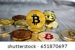 digital currency physical gold... | Shutterstock . vector #651870697