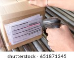warehouse worker handling... | Shutterstock . vector #651871345
