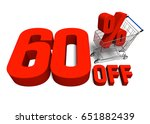 60 percent off discount with a... | Shutterstock . vector #651882439