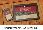 responsive design web page. top ...   Shutterstock . vector #651891187