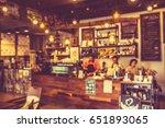 blurred background coffee shop... | Shutterstock . vector #651893065