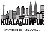 kuala lumpur malaysia city...   Shutterstock . vector #651900637