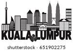 kuala lumpur malaysia city... | Shutterstock .eps vector #651902275