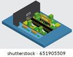 isometric road city vector | Shutterstock .eps vector #651905509