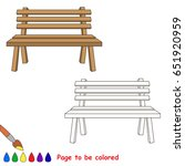 wooden bench to be colored  the ... | Shutterstock .eps vector #651920959