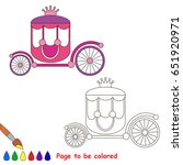 princess chariot to be colored  ... | Shutterstock .eps vector #651920971