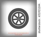 wheel vector icon  vector best...   Shutterstock .eps vector #651921244