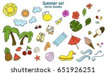 summer set with different items.... | Shutterstock .eps vector #651926251