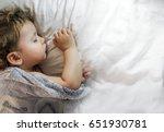 sleeping baby | Shutterstock . vector #651930781