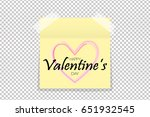 happy valentine's day design... | Shutterstock .eps vector #651932545