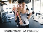 people working out together in... | Shutterstock . vector #651933817