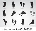 human foot  leg  boots ... | Shutterstock .eps vector #651942901