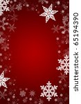 red and white christmas card... | Shutterstock . vector #65194390