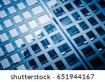 close up of modern office... | Shutterstock . vector #651944167