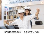 mature couple using virtual... | Shutterstock . vector #651950731
