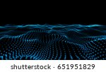 blue 3d dots illustration on... | Shutterstock . vector #651951829