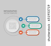 vector infographic template for ... | Shutterstock .eps vector #651953719