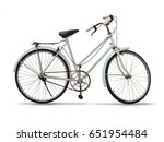 old bicycle on white background | Shutterstock . vector #651954484