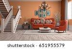 interior living room. 3d... | Shutterstock . vector #651955579