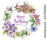 wildflower dogwood flower... | Shutterstock . vector #651960061