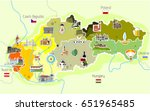 map of slovakia with landmarks | Shutterstock .eps vector #651965485
