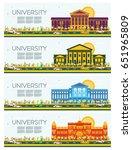 set of university study banners.... | Shutterstock .eps vector #651965809