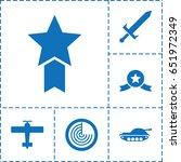 war icon. set of 6 war filled...   Shutterstock .eps vector #651972349