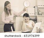female senior manager telling... | Shutterstock . vector #651976399