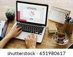 technology concept on a device... | Shutterstock . vector #651980617