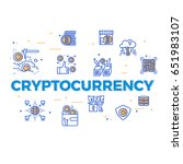 cryptocurrency word concept... | Shutterstock .eps vector #651983107