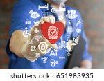 fingerprint health care...   Shutterstock . vector #651983935