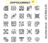 cryptocurrency outline icon... | Shutterstock .eps vector #651986134