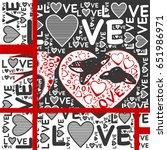 love words with flying bird...   Shutterstock .eps vector #651986971