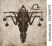 libra horoscope sign ... | Shutterstock . vector #651988975