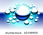 Water bubbles. Abstract vector illustration for design #1. - stock vector