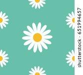 white daisy chamomile icon.... | Shutterstock .eps vector #651994657