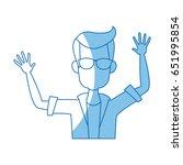 cartoon man happy enjoy... | Shutterstock .eps vector #651995854