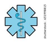 blue caduceus medical shield | Shutterstock .eps vector #651998815